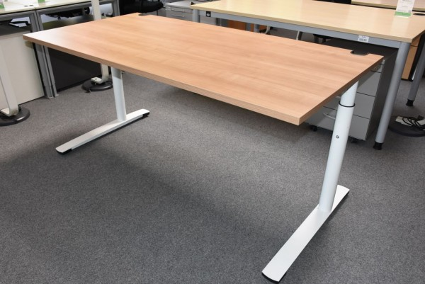 Schreibtisch, 80x160, Eiche/weiß, gebraucht