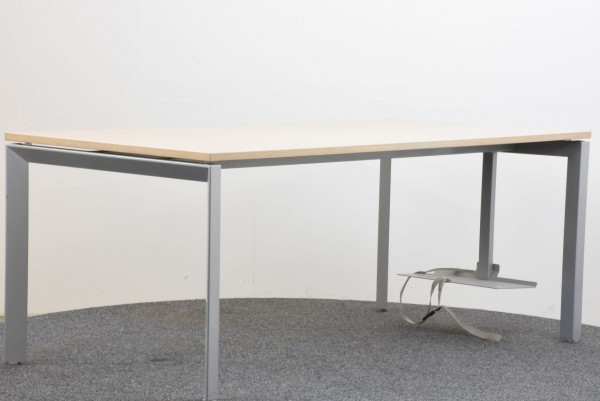 Schreibtisch Ahorn grau 90x180 cm gebraucht