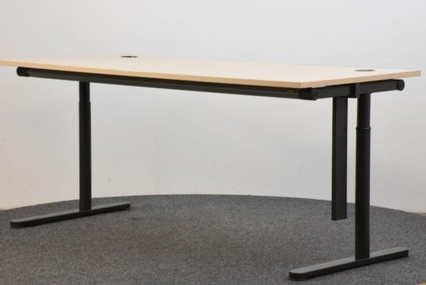 Schreibtisch Ahorn schwarz 80x180 cm gebraucht