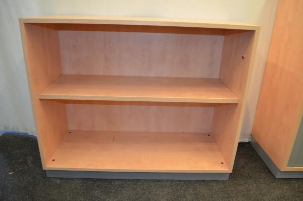Aktenregal 2OH, Buche, 82x135cm, offene Ausführung, gebrauchte Büromöbel