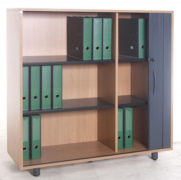 """Sideboard """"FORTSCHRITT"""", 3 OH, 120cm breit, Buche, gebrauchte Büromöbel"""