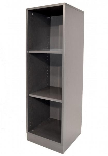 Aktenregal 3OH, H129xB40xT40cm, anthrazit, offen, gebrauchte Büromöbel