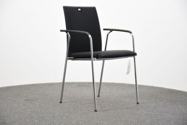 Novoform Besucherstuhl, schwarz, 4 Fuß, gebraucht