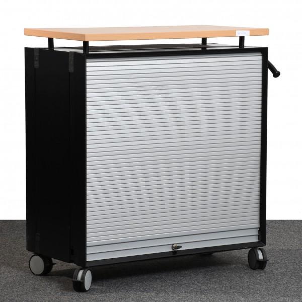 K&N großer Rollcontainer Caddy Deckplatte Buche Korpus schwarz Hängeregister gebraucht Büro 36539
