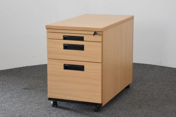 Ceka Rollcontainer, Buche, 3 Schubladen, 1 Hängeregister, gebraucht