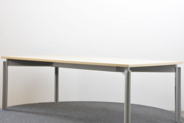 Bulo Schreibtisch, B/H/T 220x72x100, Ahorn/grau, gebraucht