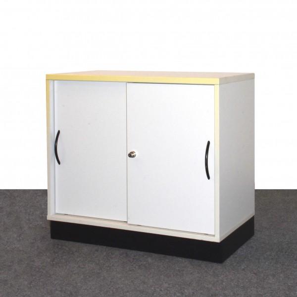 Febrü Sideboard 2 OH 80 cm breit Weiß Schiebetüren gebraucht
