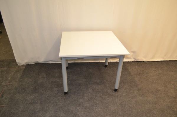 Schreibtisch, 90x90cm, graues Gestell, Holzplatte, gebrauchte Büromöbel