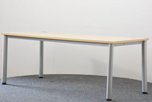 Schreibtisch Ahorn grau 80x180 cm gebraucht