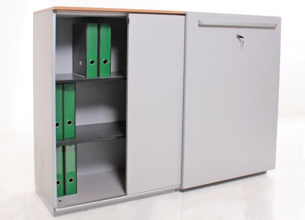"Sideboard 3OH ""Steelcase"", B 160 x H 115,5 x T 51 cm, gebrauchte Büromöbel"