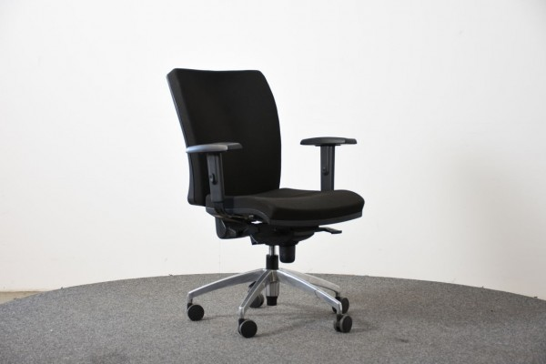 Antares Drehstuhl, Stoffbezug schwarz, gebraucht