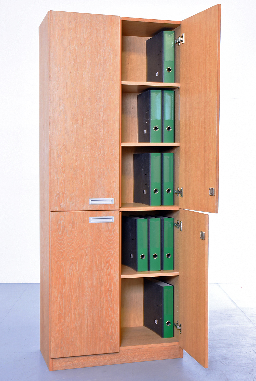 Aktenschrank 5 OH, 35736, Echtholz-Furnier, 80 cm breit