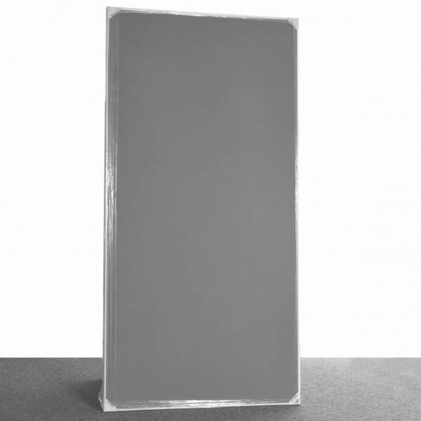 Pinnwand mit Nielson Rahmen, 100x200 cm, grau, lichtgrau, Stoffbespannung, gebraucht