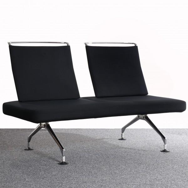 Vitra Area Zweisitzer Sofa, Lounge, Textilbezug schwarz, Chrom Gestell, gebraucht