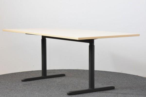 Schreibtisch, 90x180, Ahorn/schwarz, gebraucht
