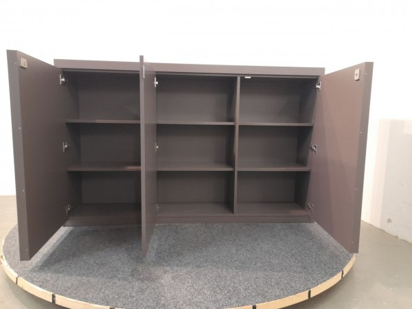 MDF Design Italia Sideboard 3OH, braun, 186x115,5 cm, gebraucht