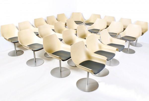 "23er-Set ""LAPALMA"" COX Designer-Stuhl, Holz, gebrauchte Büromöbel"
