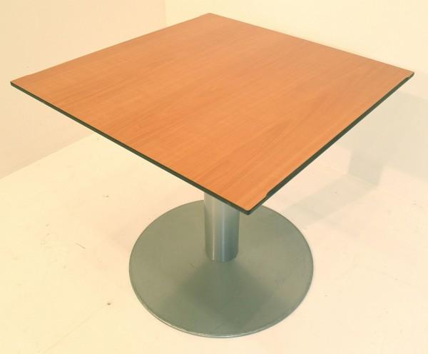 Besprechungstisch, Beistelltisch, 73x80cm, Standfuß, Ahornplatte