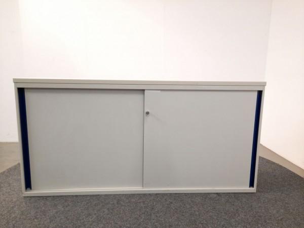 Sideboard 2OH, weiß, 160 breit, Schiebetüren, gebraucht