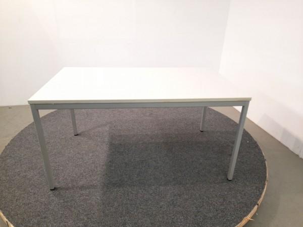 Schreibtisch, 140x80, lichtgrau Gestell grau gebraucht