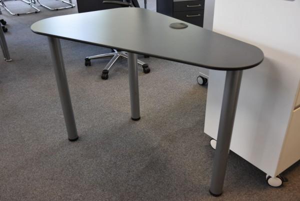 Tisch,B/H/T  113x73x59, schwarz/grau, gebraucht