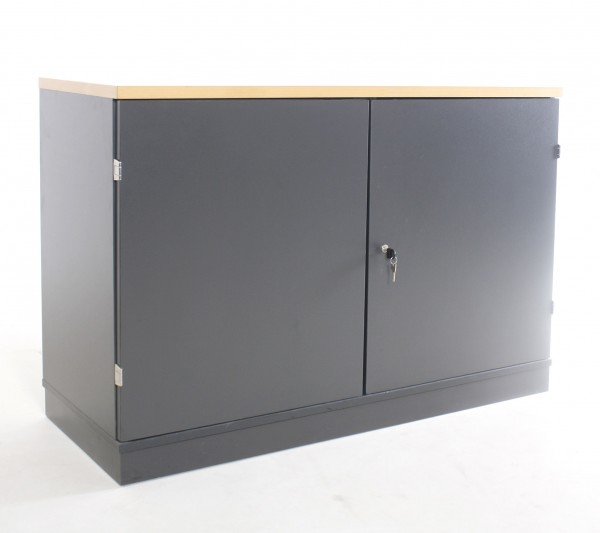 "Sideboard 2OH ""PLANMÖBEL"", B 120 x H 82 x T 47 cm, gebrauchte Büromöbel"