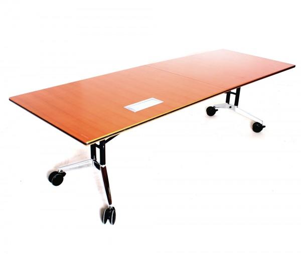 WILKAHN Konferenztisch, B 260 x T 90 x H 74 cm, zusammenklappbar, gebrauchte Büromöbel