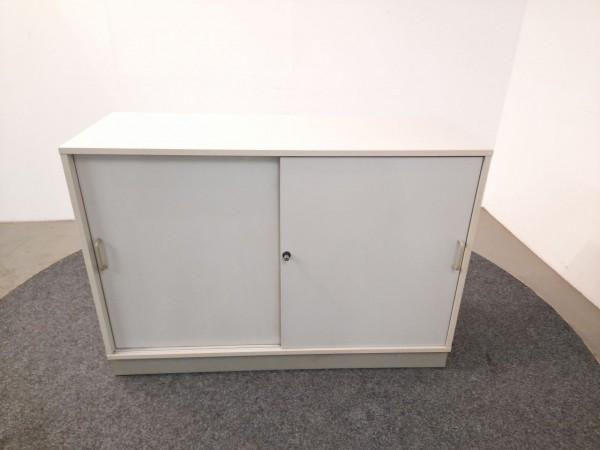 Sideboard 2OH, weiß, 120 breit, Schiebetüren, gebraucht