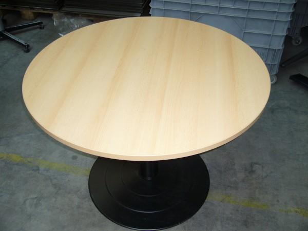 Buchetisch rund mit Metallfuß, gebrauchte Büromöbel