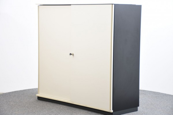 Bene Sideboard 3OH braun/weiß, 120x114 cm, gebraucht