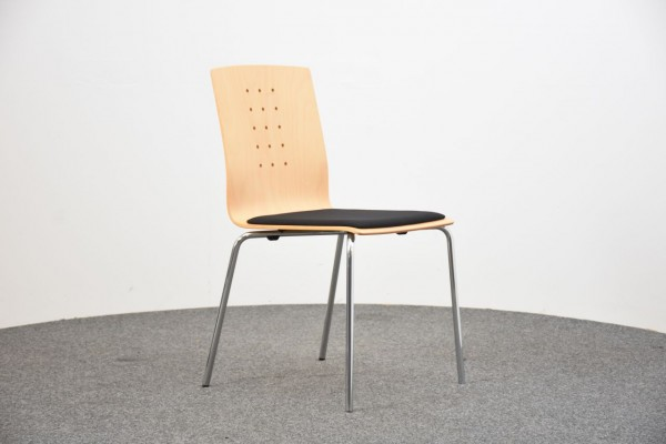 L & C Stendal, Stuhl, Holz, braun, gebraucht