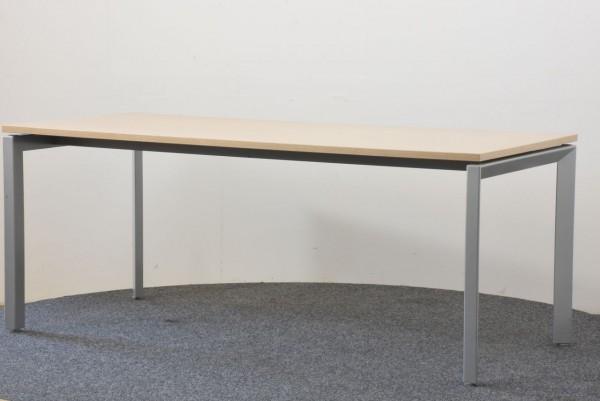 Schreibtisch, 80x180, Ahorn/grau, gebraucht