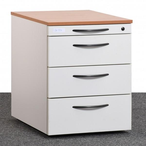 Steelcase Rollcontainer Buche weiß anthrazit Schubladen gebraucht Büro 36537