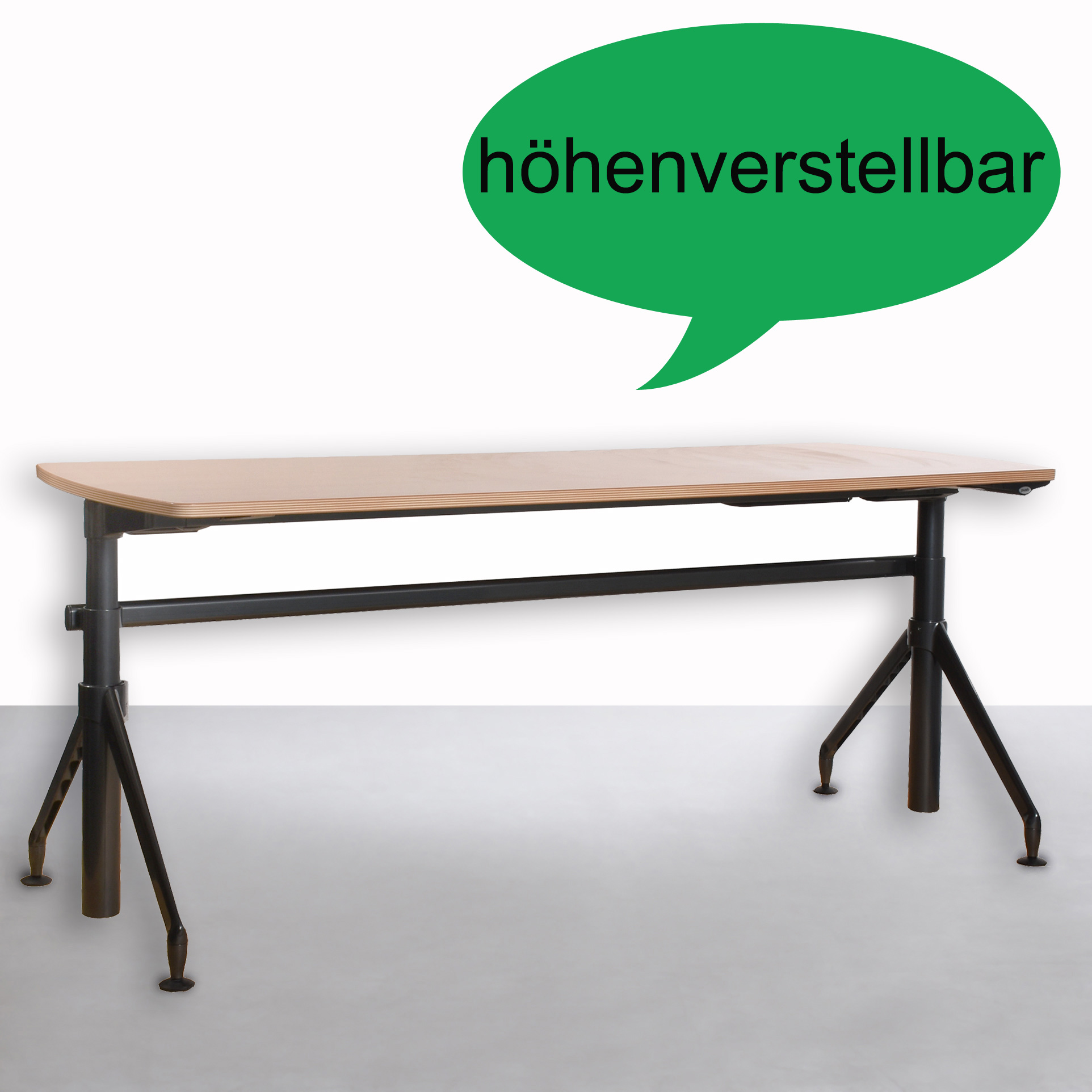 steelcase schreibtisch elektrisch h henverstellbar 80x200 buche gebraucht b ro 36239. Black Bedroom Furniture Sets. Home Design Ideas