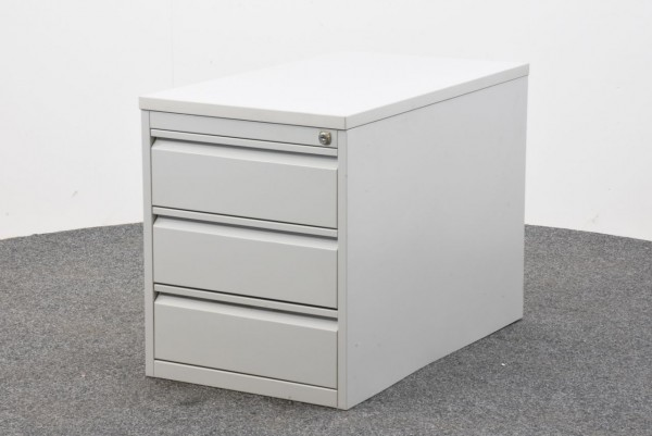 Stand-und Rollcontainer, lichtgrau, Schubladen, gebraucht