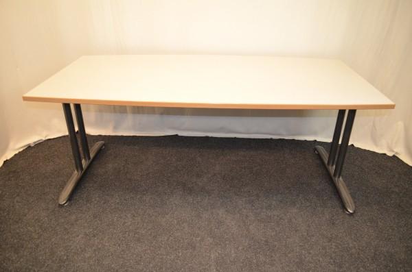 Besprechungs-, Besucher-, Konferenztisch, 180x90, ovaler Anschni, gebrauchte Büromöbel