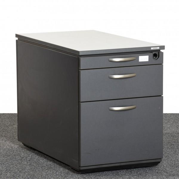 Vario Rollcontainer anthrazit lichtgrau silber Schubladen Hängeregister gebraucht Büro 36307