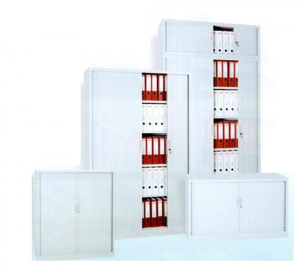 Rollladenschrank 2OH, Stahl, 105x120x46cm, Farbe Grau/Grau, SDC.1012 (100209)