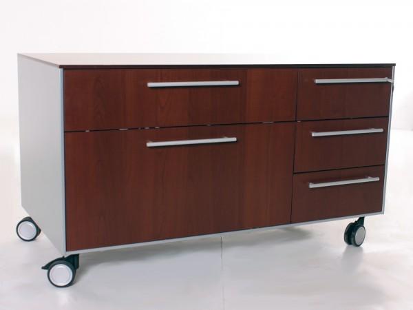 "Sideboard fahrbar ""Fantoni"", B 121 x H 68,5 x T 60 cm, gebrauchte Büromöbel"
