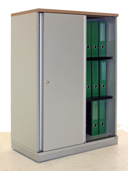 "Sideboard 3OH ""Gesika"", B 80 x H 115 x T 43,5 cm, gebrauchte Büromöbel"