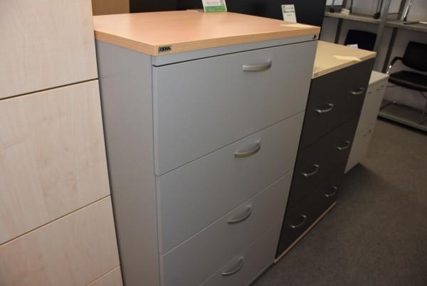 Hängeregisterschrank, Buche/grau, 4 Schubladen, gebraucht