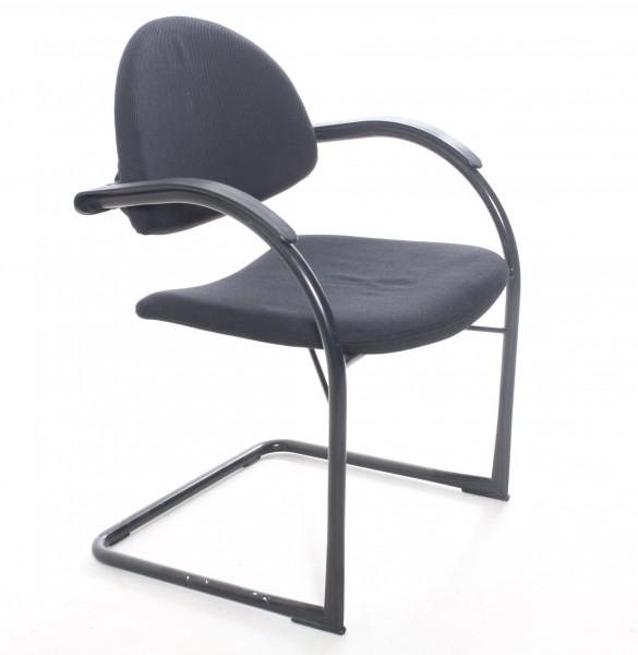 """Freischwinger """"VITRA"""" Textil schwarz, gebrauchte Büromöbel"""