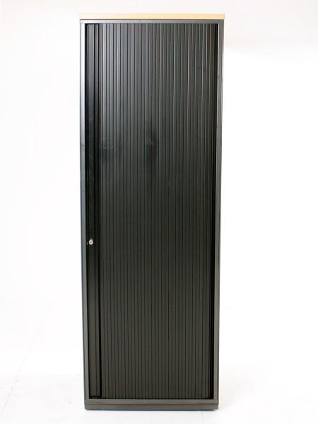 Garderobenschrank 180x62cm, Markenfabrikat K+N, Anthrazitmetallik, Lamellentüre, Metall Korpus, Buch