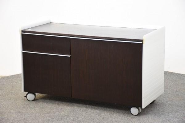 Sideboard 2OH,Nußbaum/weiß, 63x106 cm, gebraucht