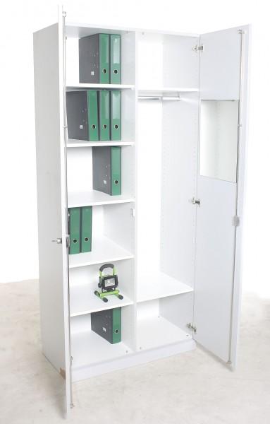 Akten- u. Garderoben-Schrank, 100 cm Breite, gebrauchte Büromöbel