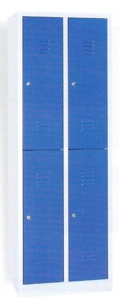 Garderobenschrank 180x117x50cm, 4 Türen, Grau/Grau, 40, WRC/4.18117 105035