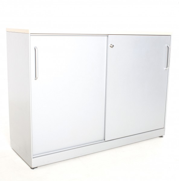 "Sideboard 2OH ""MAUSER"" , B 100 x H 89 x T 43 cm, gebrauchte Büromöbel"