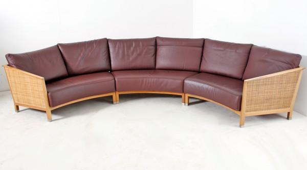 "Sofa 6-sitzer, ""FLEXFORM Italy"" , Echtleder, gebrauchte Büromöbel"