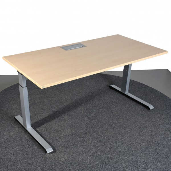 Sedus Schreibtisch, 80x160, höhenverstellbar, Kabelklappe, Ahorn/silber, gebraucht