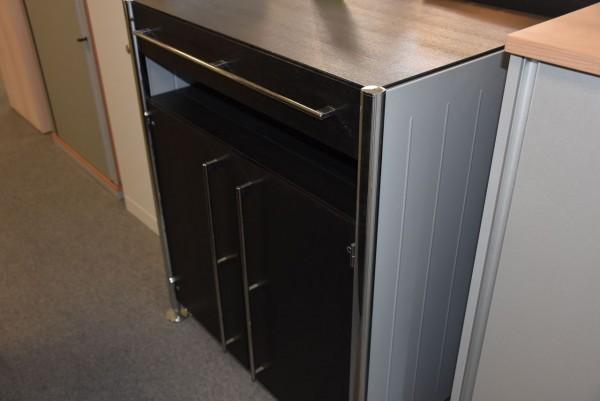 Sideboard 3OH,Schwarz/ grau, 90x108 cm, gebraucht